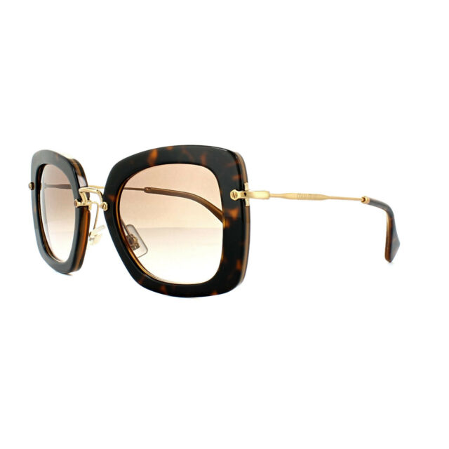 ff13eb2dcb7 Miu Miu Sunglasses 07OS KAZ0A6 Top Havana Opal Brown Gradient