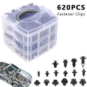 620-x-Car-Trim-Body-Clips-Kit-Rivet-Retainer-Door-Panel-Bumper-Plastic-Fastener