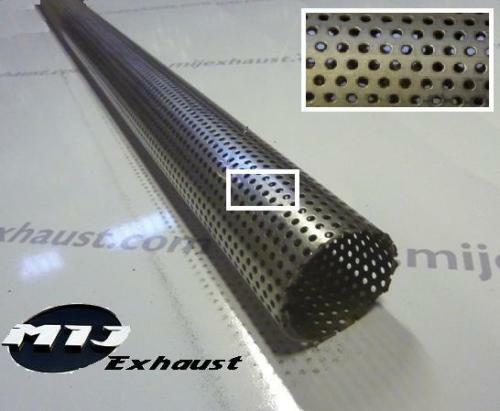 """2.5/"""" 63.50mm 0.5m T304 Stainless Perforated Exhaust Tube Pipe Half Meter"""