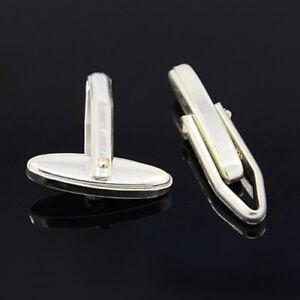 CUFF-LINK-Swivel-Bar-Back-Fittings-U-Arm-PAIR-Solid-925-STERLING-SILVER-Cufflink