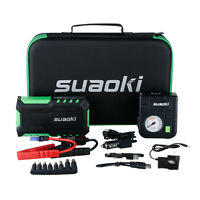 Suaoki G7 Plus 18000mah Car Vehicle Jump Starter Charger Power Bank + 80psi Pump