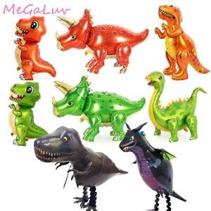 Number Dinosaur Foil Balloon Children Birthday Animal Jungle Theme Party Decor