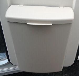Hartal-Beige-Mocha-Plastic-Door-Bin-amp-Pegs-For-Bailey-Swift-Adria-Caravan-HDB3