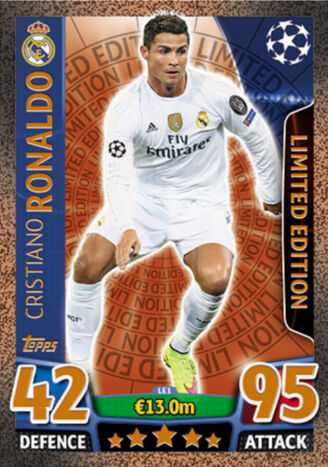 Topps match coronó Champions League 15//16 2015//2016 trading cards Limited Edition