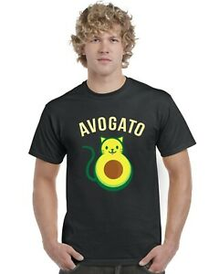 Avogato-Cat-Avocado-Adults-T-Shirt-Tee-Top-Sizes-S-XXL