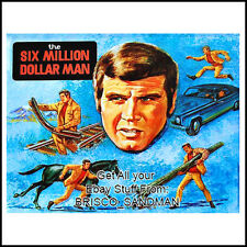 Fridge Fun Refrigerator Magnet SIX MILLION DOLLAR MAN -Art Montage V:A 70s Retro