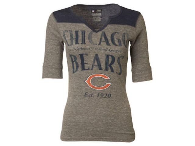 NWT NFL Chicago Bears Womens VF Sweet Victory II Half Sleeve Raglan Shirt