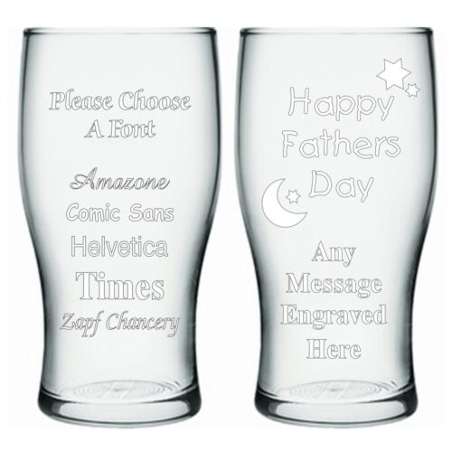 Personalised Pint Beer Glass 1st Fathers Day Gift Father/'s Day Gift Daddy Dad