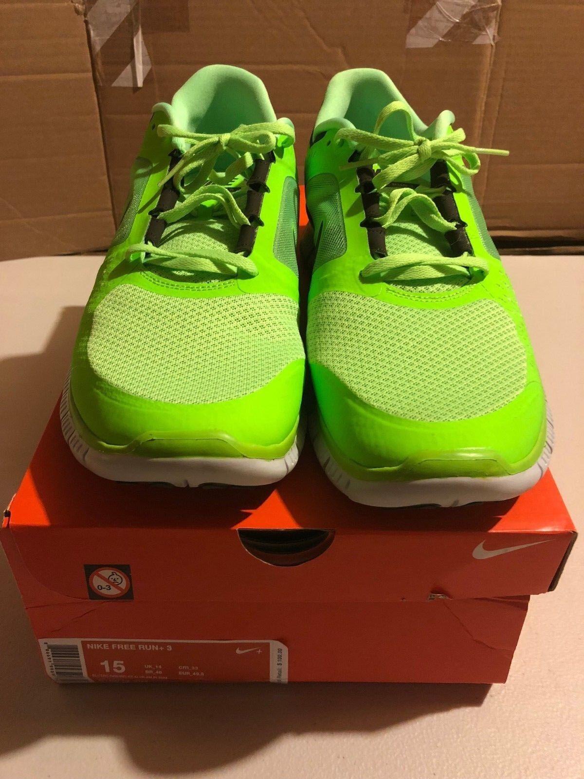 Nike Free Run 5.0 Running Green Green Green Sz 15 VNDS Training NikeLab 42975d