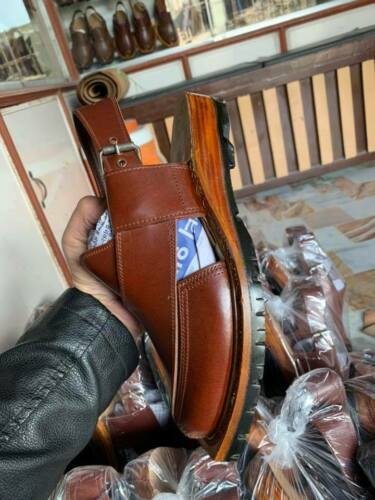 Handmade-Sandals Peshawri-Pure-Original-LEATHER self-print