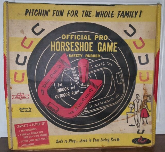 """Indoor//Outdoor 18/"""" HORSESHOE Street Sign signs horseshoes game player trophy"""