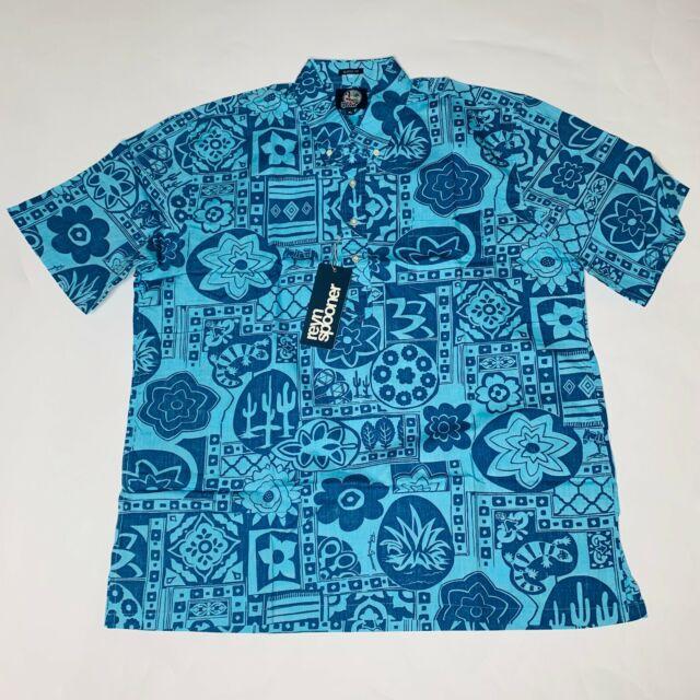 Reyn Spooner Mens Hawaiian Shirt Size Extra Large XL Ka'u to Baja Pullover New