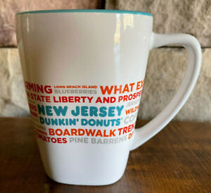 Dunkin' Donuts New Jersey Square Bottom Coffee Mug 2017