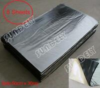 8 Sheets Self Adhesive Closed Cell Foam Glass Fibre 10mm Car Sound Insulation