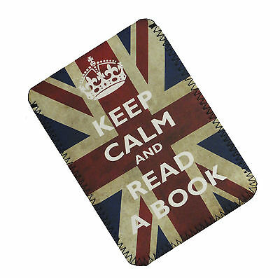 Keep Calm And Read A Book  case, cover, pouch, holder fits KOBO GLO