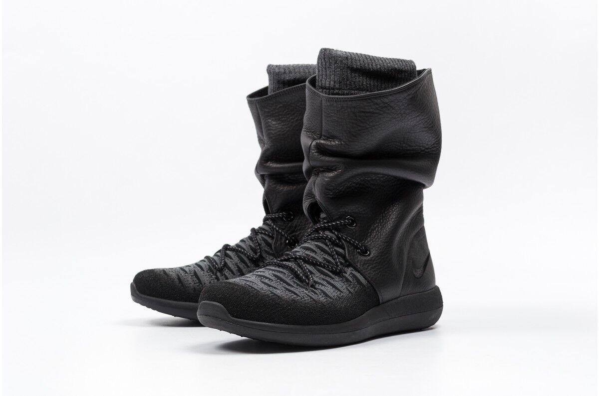 Nike roshe deux Hi Flyknit Femmes Bottes 861708 001 UK4 4.5 5 5.5 6