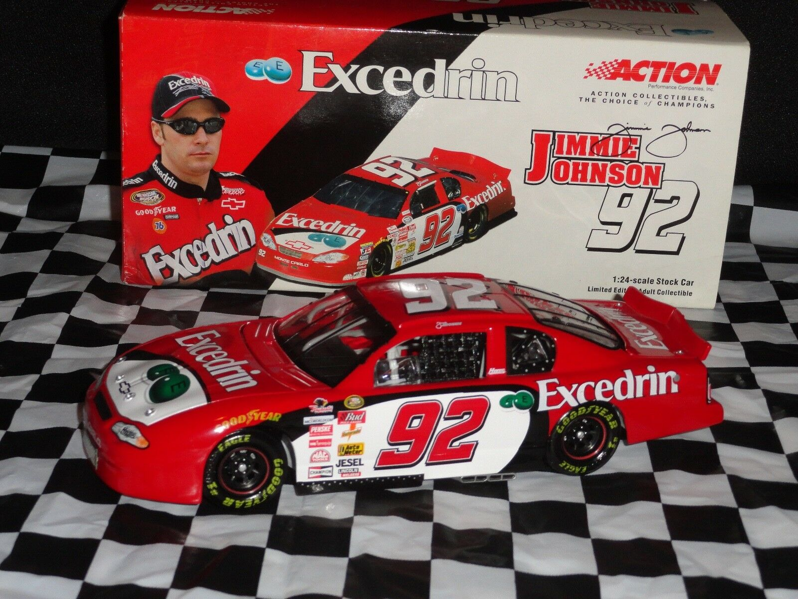JIMMIE JOHNSON 2001 EXCEDRIN MONTE CARLO (ONLY BUSCH SERIES WIN CAR)