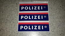 3 Aufkleber Pickerl Polizei Österreich - neues Design!!!!