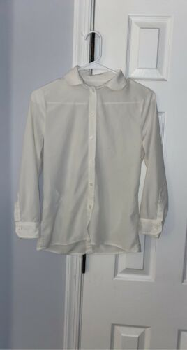 Gucci Uniform Womens White Silk Button Down Top Sh