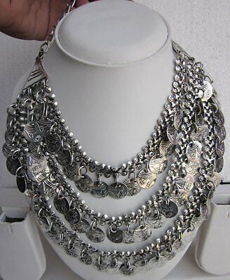 Vintage Statement Coin Necklace Gypsy Boho Festival Tribal Belly Dance Jewelry