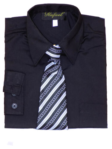 Boys Party Special Event dress shirt Size: 2T to 20 Black