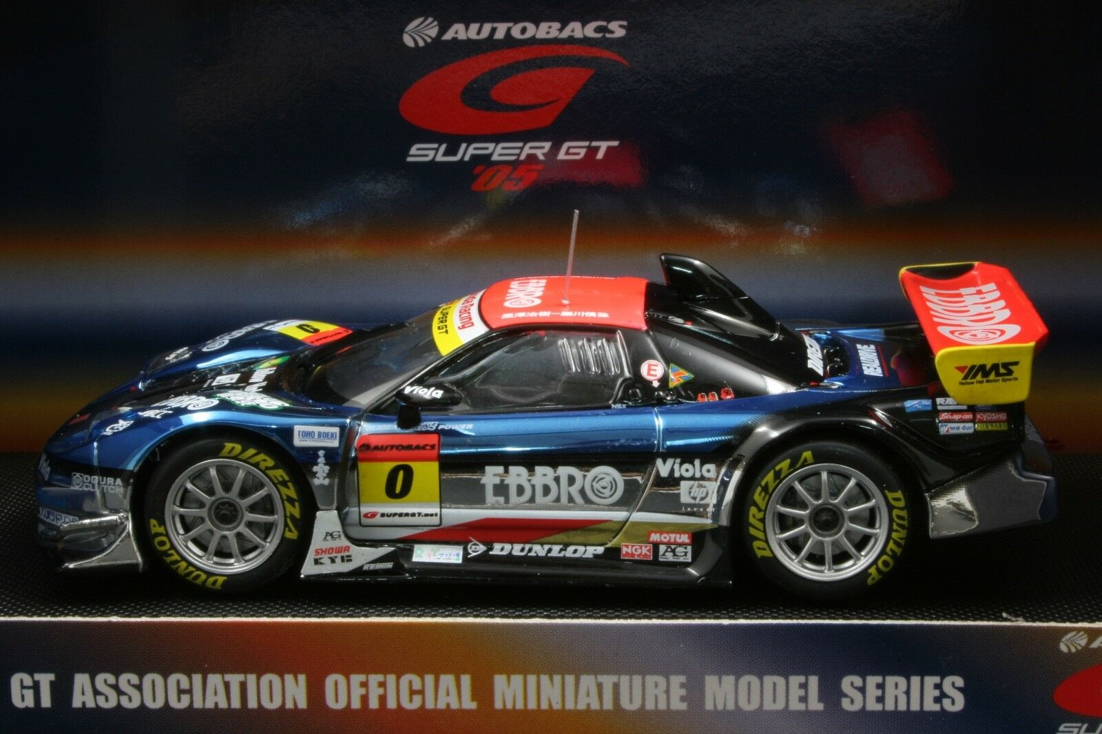 EBBRO 43700 1:43 M-TEC MUGEN HONDA NSX SUPER GT 2005 NO 0 DIE CAST MODEL CAR