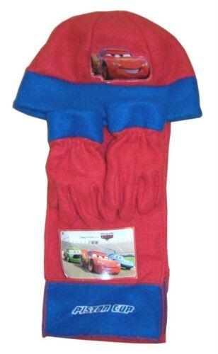 Nouveau Disney Cars enfants Wooley hat Écharpe /& Gant Hiver set 3 piece set