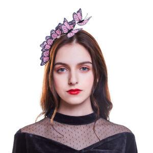 Ladies-3D-Butterfly-Hairband-Festival-Headband-Wedding-Hair-Accessories-Costume