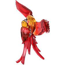 SWAROVSKI RED PARROTS BRAND NIB #5136809 NEW FOR 2015 BIRDS KISSING CRYSTAL F/SH