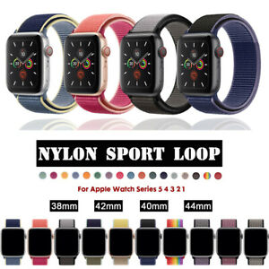 Nylon Woven Sport Loop Bracelet Watch Band Strap For Apple iWatch series 5 4 3 2