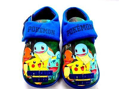 8919eec0be4 Venta chicos nuevos Pokemon henlake Cierre Táctil Pantuflas Zapatos de Casa  Talla 6 12