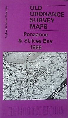 Old Ordnance Survey Detailed Maps St Ives Cornwall 1906  Godfrey Edition New