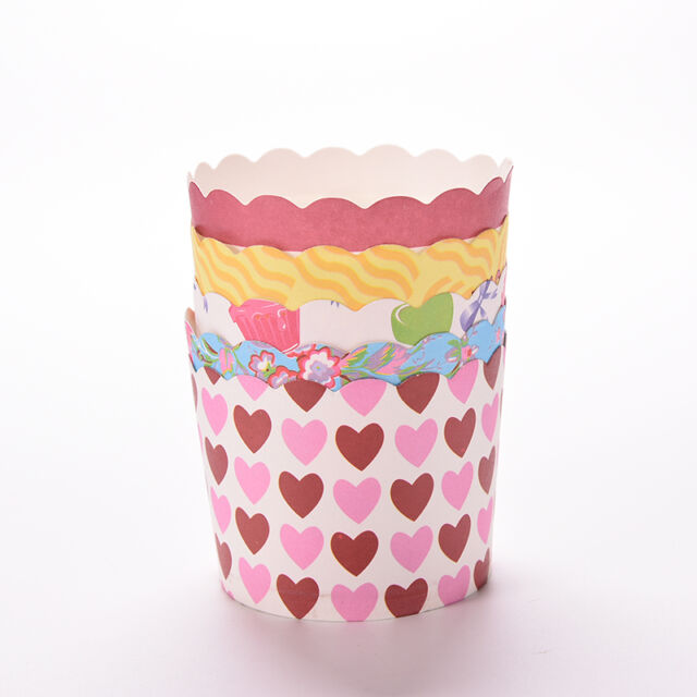 50pcs Vogue Cake Baking Paper Cup Cupcake Muffin Cases Cups Home Party 6cm HATA