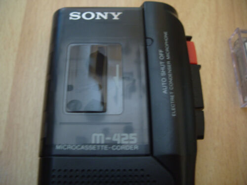 SONY M-425 MICROCASSETTE Voice Recorder Evp Dictaphone Machine Rare Ghost  Spirit