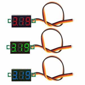 0-36-034-DC-0-100V-3-bits-3-wires-Digital-Voltmeter-LED-Display-Panel-Voltage-Meter
