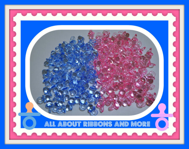 50 MINI PACIFIERS BABY SHOWER FAVORS- PINK OR BLUE