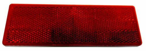 HIGH VISIBILITY STICK ON RECTANGULAR RED REFLECTOR truck trailer horsebox