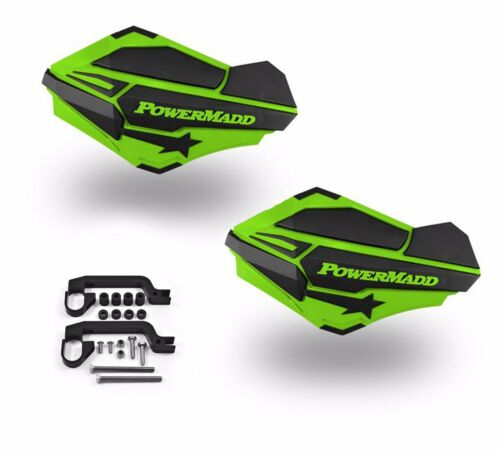 PowerMadd SENTINEL Handguard Guards KIT Green//Black Can Am Renegade ATV 34403