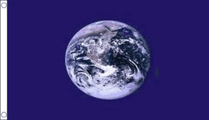 Planet Earth Flag Large 5x3/' 5x3ft Banner