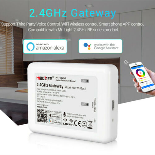 2.4G WiFi Remote Compatible with Milight Led Bulbs Support IOS and Android