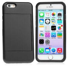 Apple iPhone 6S, 6S PLUS Hybrid Hard Credit Card ID Holder Case Skin Phone Cover