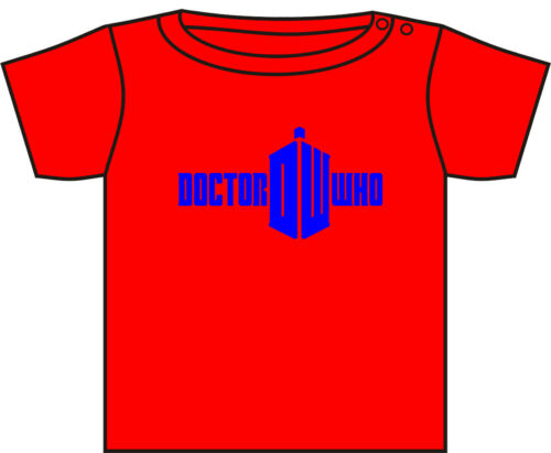 DOCTOR WHO T-SHIRT DR WHO TODDLER TSHIRT TARDIS DALEKS ASST COLOURS 0-3 YEARS