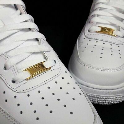 NEW AIR FORCE 1 laces with GOLD BADGE AF1 82 nike jordan bred supreme white CDG | eBay