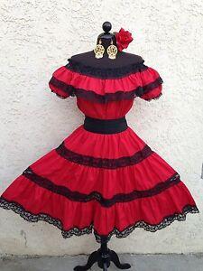 Image Is Loading Mexican Dress Fiesta 5 De Mayo Offshoulder W