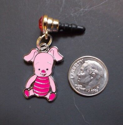 New Piglet from Pooh Bear Enamel Charm iPhone Android Smartphone Dust Plug 3.5mm