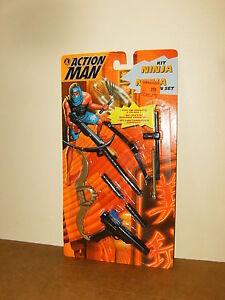 Modern-ACTION-MAN-MAM-HASBRO-1995-KIT-NINJA-WEAPON-SET-Mint-Sealed