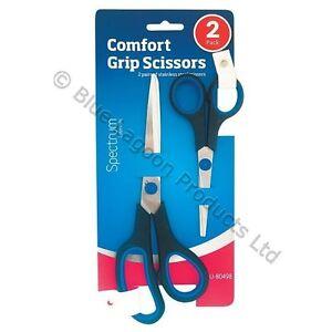 2-x-Household-Kitchen-Scissors-Set-Soft-Grip-Cutter-Office-Stainless-Steel