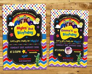 Image Is Loading THE WIGGLES CARDSTOCK INVITATION CARD INVITE BIRTHDAY PARTY