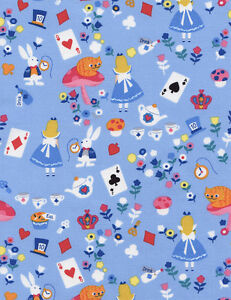 Fat-Quarter-Alice-in-Wonderland-Cotton-Quilting-Fabric-Timeless-Treasures