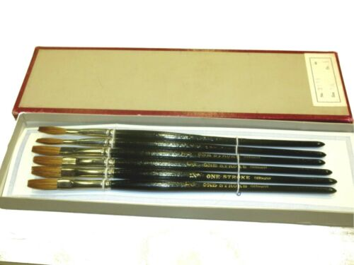 ONE STROKE 1//4 IN 1DZ  SIGN WRITER LETTERING BRUSH FLATS GERMANY RED SABLE 2176